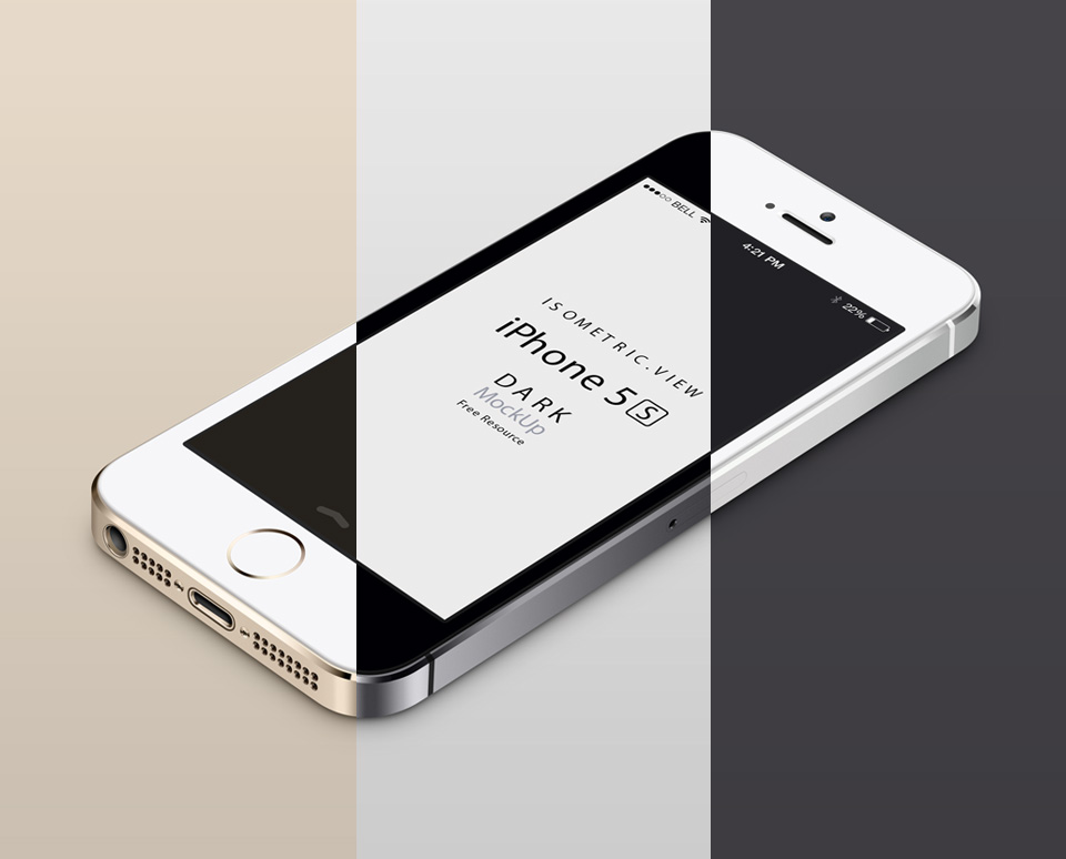 001-iphone-5S-mobile-celular-isometric-view-3d-mock-up-psd